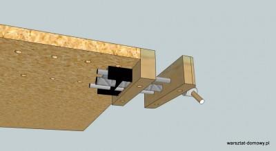 Montaz imadla2 400x220 Instalacja imadła czołowego do stołu warsztatowego   cz. 1