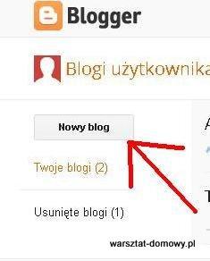 01 nowy blog Jak założyć własnego bloga   cz.1