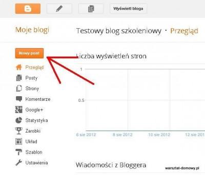 03 zacznij nowy post 400x342 Jak założyć własnego bloga   cz.1