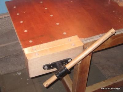 IMG 0620 400x299 Instalacja imadła czołowego do stołu warsztatowego   cz. 2