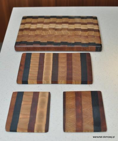 DSC 0405 400x479 Deska do krojenia z kolorowego drewna
