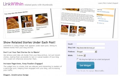 LinkWithin Related Posts with Thumbnails Mozilla Firefox 2013 02 13 131909 400x253 Jak założyć własnego bloga   cz.2   Gadżety