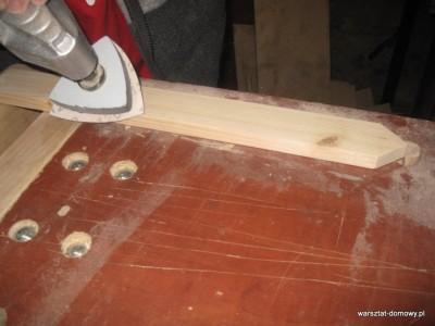 IMG 1175 400x300 Płotek z kolorowego drewna na prezent ślubny