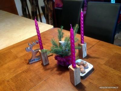 2013 12 24 14.17.12 400x300 Projekt świąteczny   świeczniki na stół wigilijny
