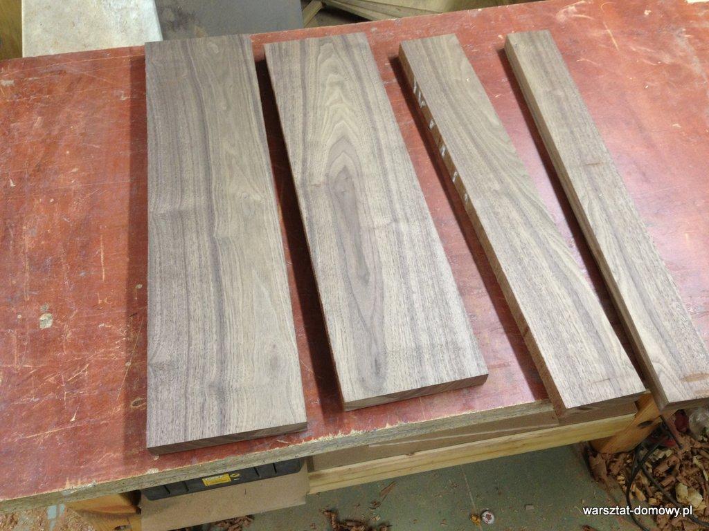 Przygotowanie drewna na nogi do stołka warsztatowego