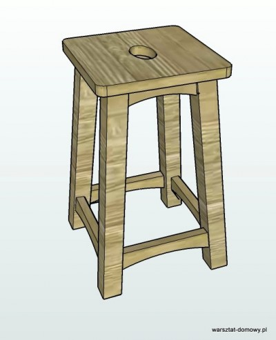 stolek warsztatowy 2014 01 12 400x493 Stołek barowy z drewna orzechowego