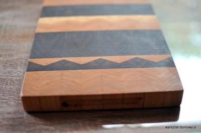 DSC 0002 400x265 Deska do krojenia z trójkątnymi wzorami   czereśnia i orzech