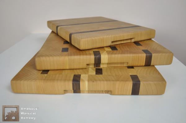 DSC 0081 600x398 Deska do krojenia dla Pani Marty z buku, czereśni i orzecha