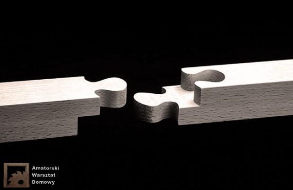 double jigsaw 600x389 Pięćdziesiąt połączeń stolarskich   Flexible Stream