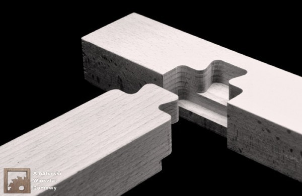 shouldered dovetail halving 600x390 Pięćdziesiąt połączeń stolarskich   Flexible Stream