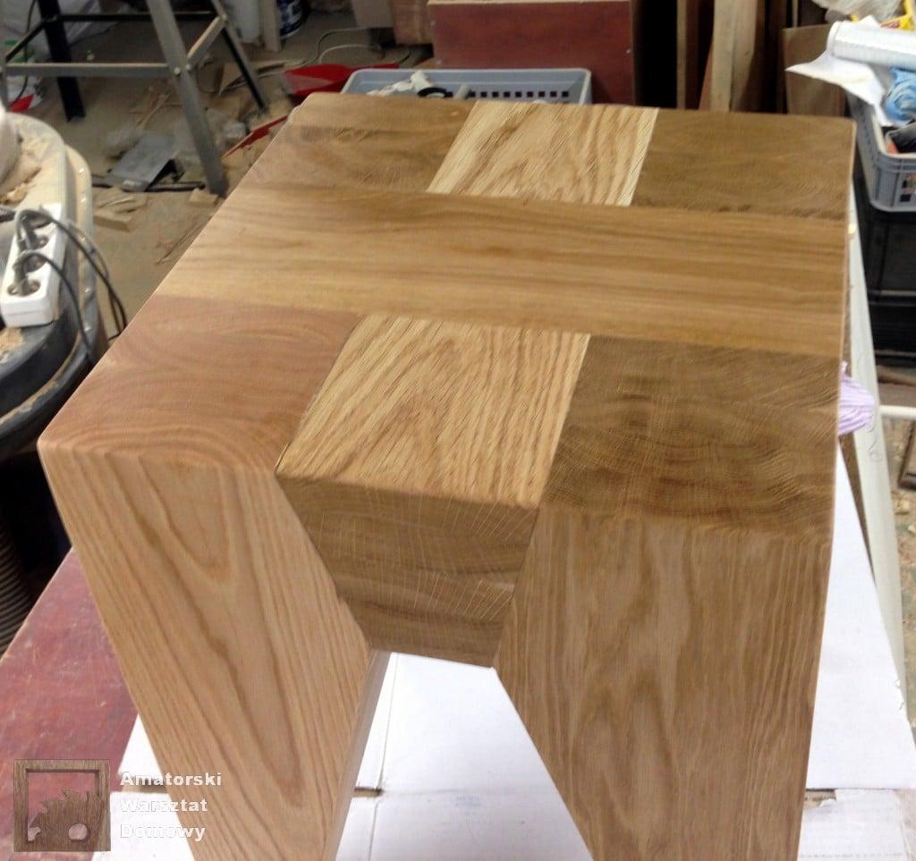 IMG 5698 1024x963 Dębowy stołek według projektu pani Joanny