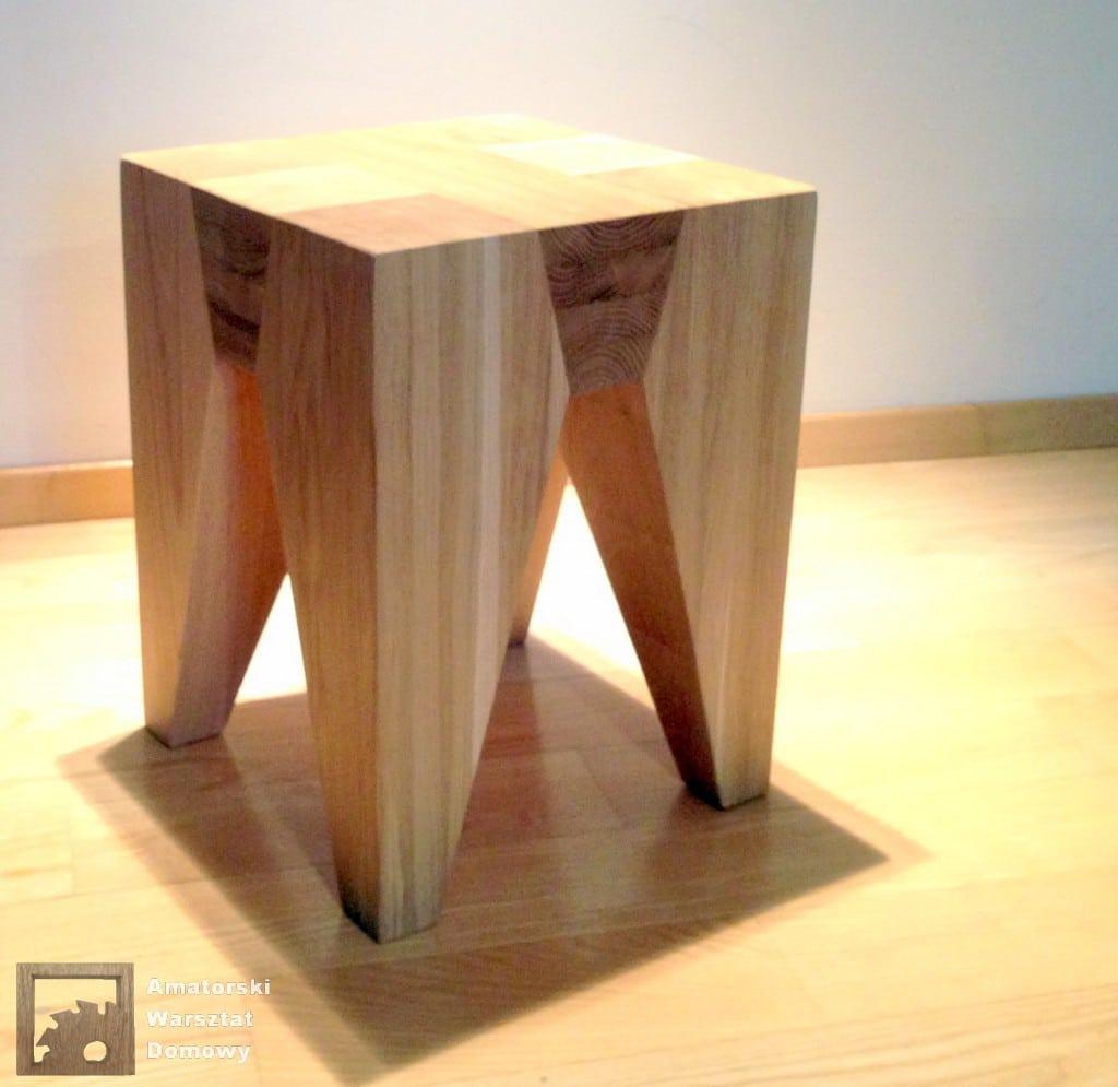 IMG 5714 1024x995 Dębowy stołek według projektu pani Joanny